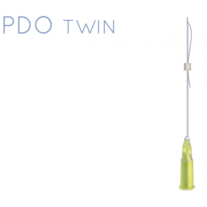Rainbow thread PDO twin